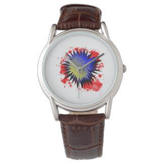 Exclamación cómica de semitono reloj de pulsera