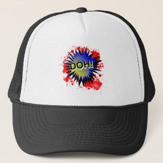 Exclamación cómica del do gorra de camionero