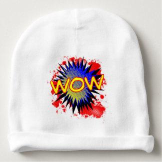 Exclamación cómica del wow gorrito para bebe