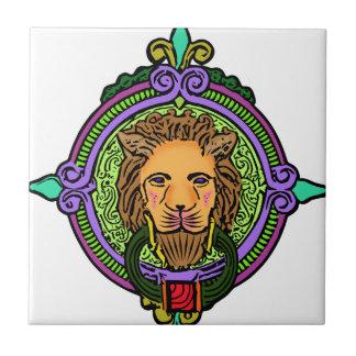 Exclusiva del arte del león azulejo cuadrado pequeño
