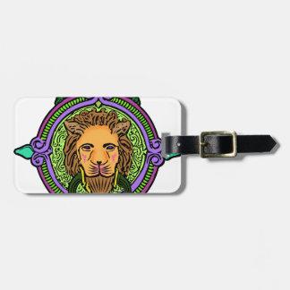 Exclusiva del arte del león etiqueta para maletas