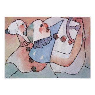 Excursión de los payasos invitación 12,7 x 17,8 cm