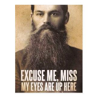 Excúseme Srta., amantes de la barba Postal