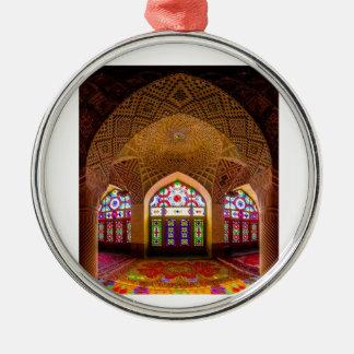 EXHIBICIÓN con respecto: Lugar de culto religioso Adorno Redondo Plateado