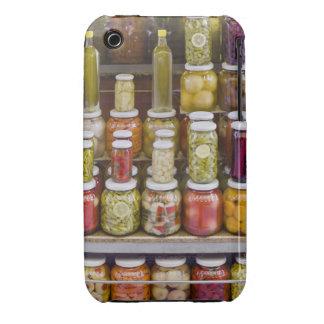 Exhibición de frutas y de verduras conservadas en funda para iPhone 3