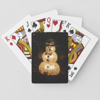 Exhibición de la luz del día de fiesta del muñeco baraja de cartas