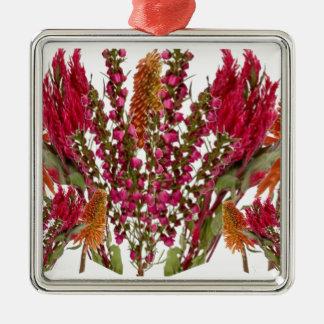 Exhibición floral del lápiz labial de Boronia Ornamentos De Navidad