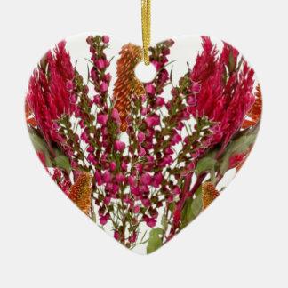 Exhibición floral del lápiz labial de Boronia Ornamento De Navidad