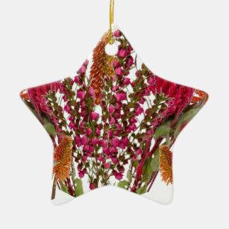 Exhibición floral del lápiz labial de Boronia Adornos De Navidad