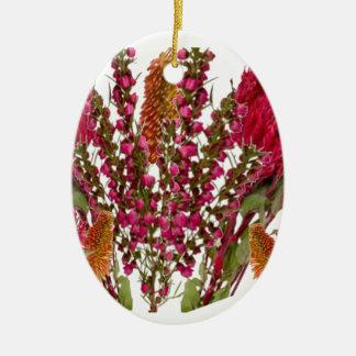 Exhibición floral del lápiz labial de Boronia Ornamentos Para Reyes Magos