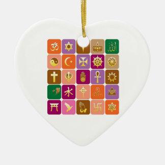EXHIBICIÓN solamente: ICONOS religiosos Adorno De Cerámica En Forma De Corazón