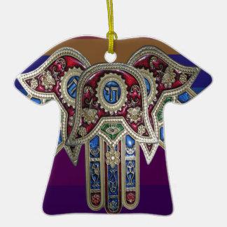 EXHIBICIÓN solamente: ICONOS religiosos Adorno De Cerámica En Forma De Camiseta