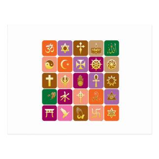 EXHIBICIÓN solamente ICONOS religiosos decorativo Postales