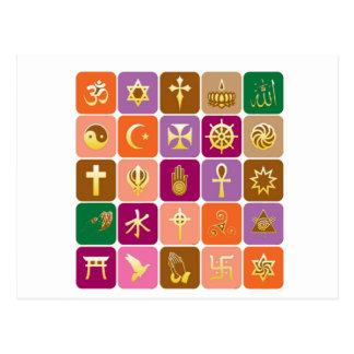 EXHIBICIÓN solamente: ICONOS religiosos Postal
