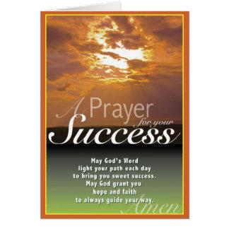 Éxito de la puesta del sol tarjeta de felicitación