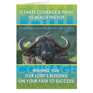 Éxito del búfalo tarjeta de felicitación