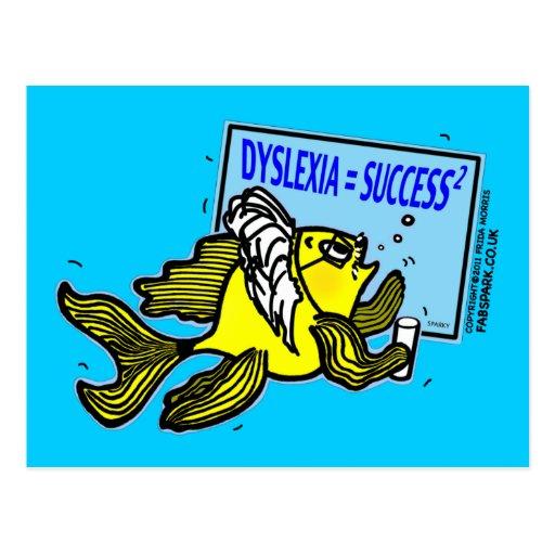 Éxito del disléxico del ~ de los pescados del prof postal