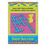 Éxito dulce tarjeta