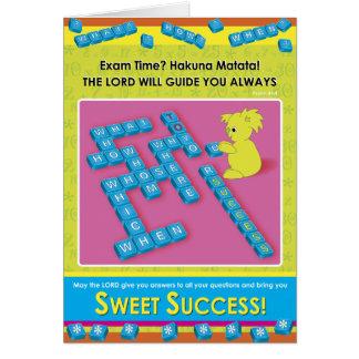 Éxito dulce tarjeta de felicitación