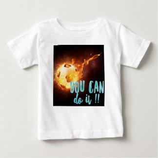 Éxito inspirado de motivación del fútbol camiseta de bebé