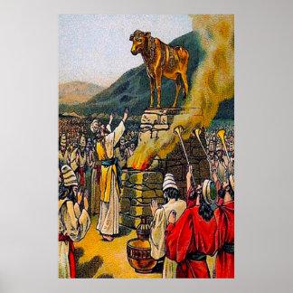 Éxodo 32 el pecado del poster de la adoración de í