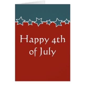 Expat o viajero feliz el 4 de julio felicitacion