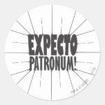 ¡Expecto Patronum! Pegatina Redonda