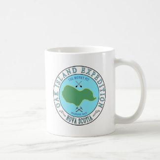 Expedición del hoyo del dinero de la isla del taza de café