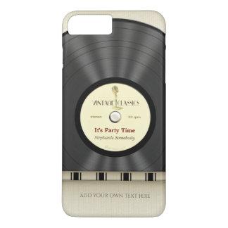 Expediente clásico retro de LP del vinilo Funda iPhone 7 Plus