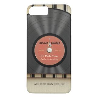 Expediente retro de LP del vinilo de la roca Funda iPhone 7 Plus