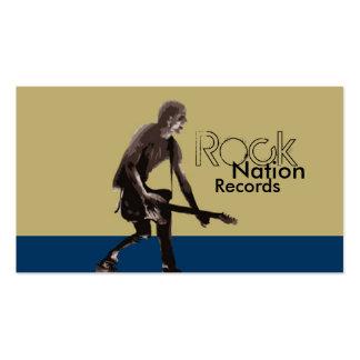 Expedientes de la nación de la roca tarjetas de visita