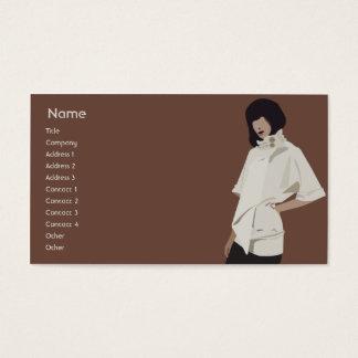 Expendidora automática de la moda - negocio tarjeta de visita