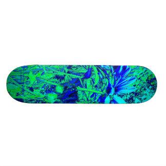 Experiencia floral del verde azul patín personalizado