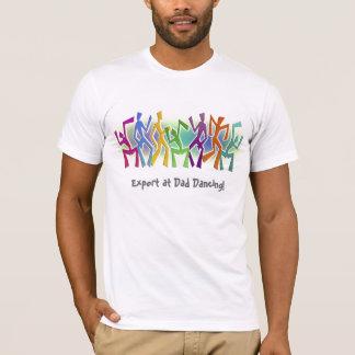 Experto en el baile del papá - adorno tonto de los camiseta