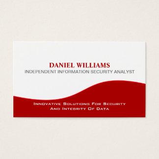 Experto en seguridad único elegante profesional tarjeta de negocios