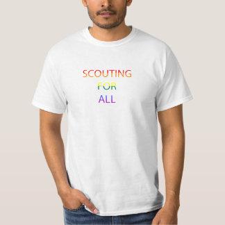 Exploración para hombre para toda la camiseta