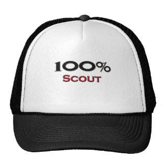 Explorador del 100 por ciento gorras