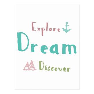 Explore el sueño descubren postal