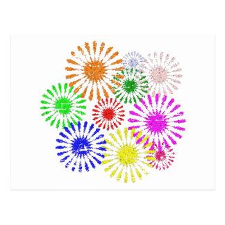 Explosión apenada de la flor postal