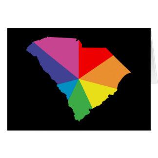 explosión de color de Carolina del Sur Tarjeta De Felicitación