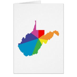 explosión de color de Virginia Occidental Tarjeta De Felicitación