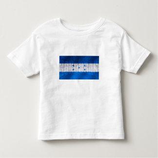 Explosión de la bandera de Honduras para los Camiseta De Bebé