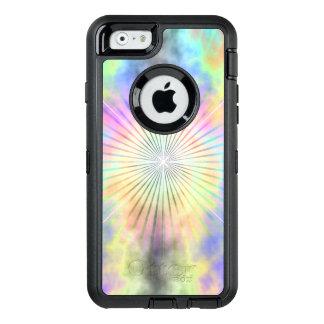 Explosión de la estrella del halo del arco iris funda OtterBox defender para iPhone 6