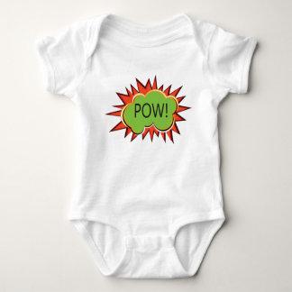 Explosión de la tipografía del arte pop body para bebé