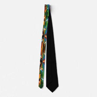 explosión del arco iris de la bola de espejo corbata personalizada