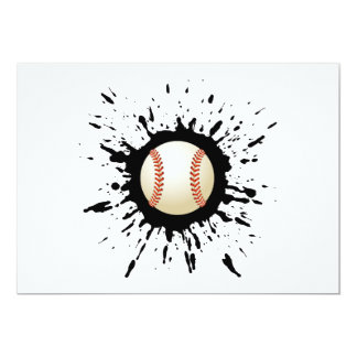 Explosión del béisbol invitación 12,7 x 17,8 cm