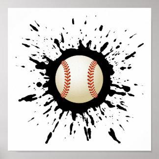 Explosión del béisbol póster