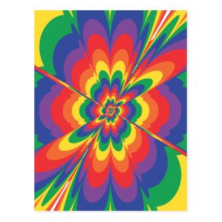 Explosión del color: Arte abstracto: Postal
