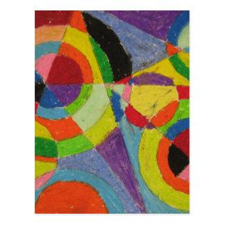 Explosión del color de Roberto Delaunay Postal