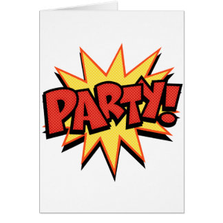 Explosión del fiesta tarjeta de felicitación
